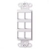 Leviton Decora Quickport Plate 6 Ports - White