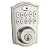 Weiser Smartcode 10 Zwave Plus 11 Button Traditional Deadbolt, Satin Nickel