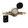 Fortrezz Zwave Water Flow Meter Brass 3/4 Inch NPT